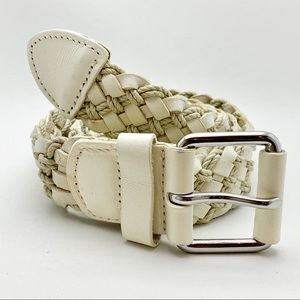 Banana Republic Leather and twine weave belt